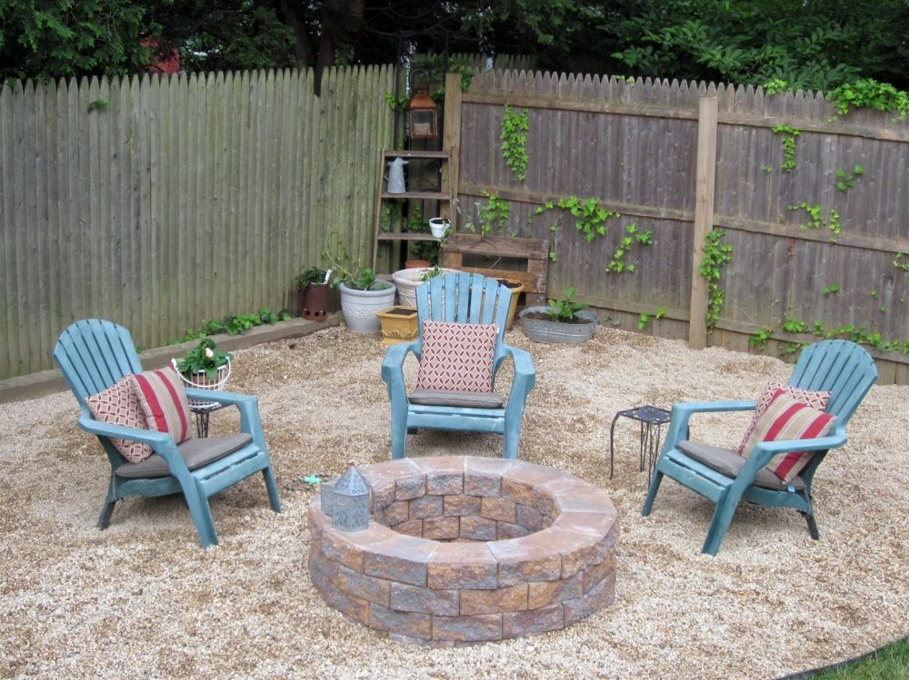 How to build a stone fire pit for your back yard - Frisco ...